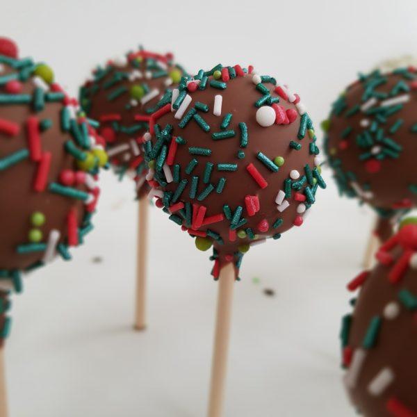 Festive Sprinkle Cake Pops
